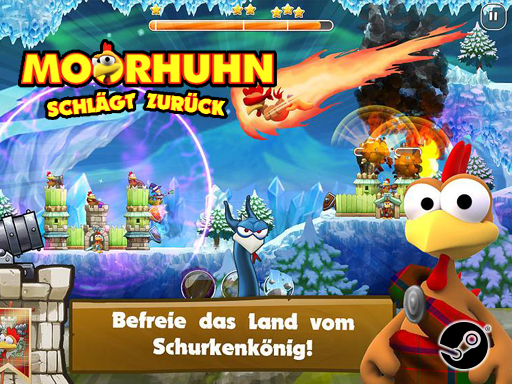 Promo Screenshot MOORHUHN schlägt zurück Young Fun Studio/ak Tronic